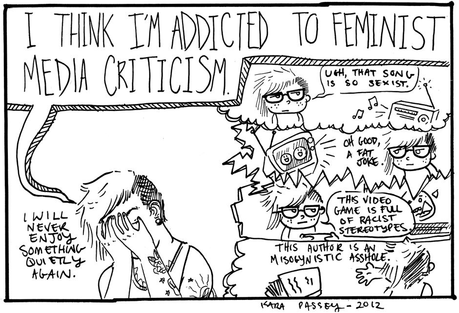 feminism - media criticism/ not easy being feminist