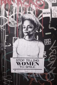 feminism - street harassment, smile