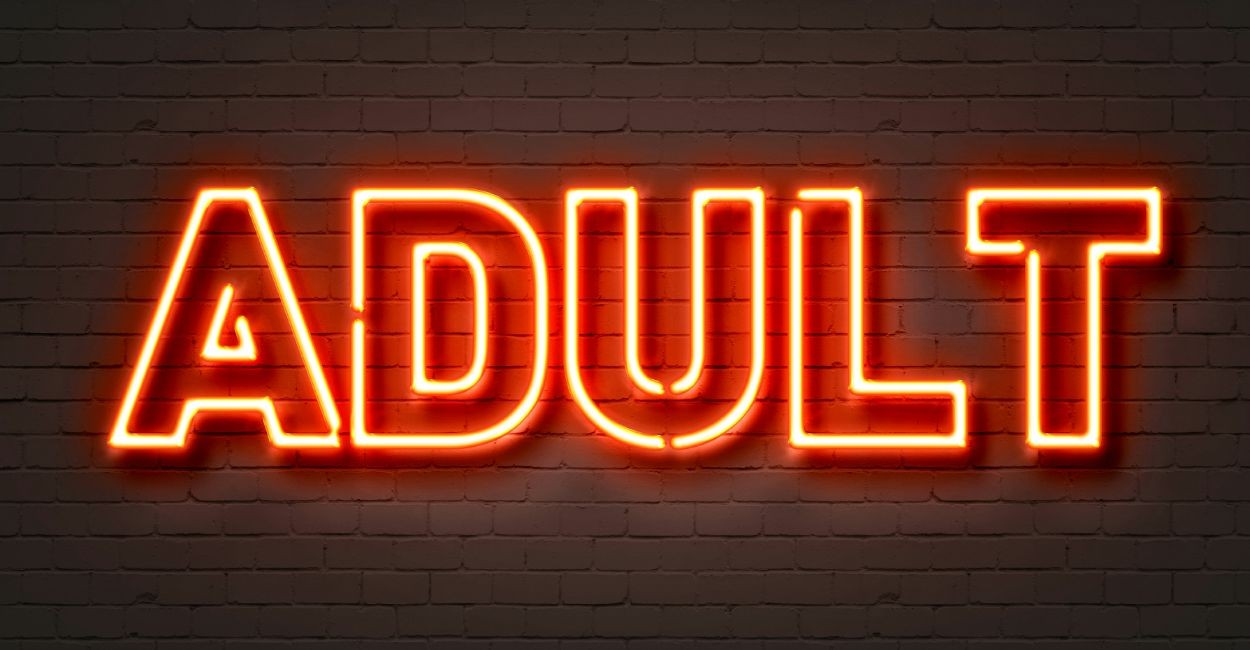 pornography - adult sign