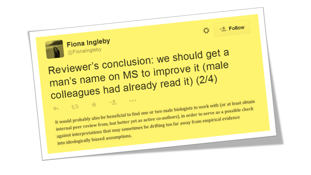 #maleficentmisogyny: A peer reviewer's suggestion that two female researchers