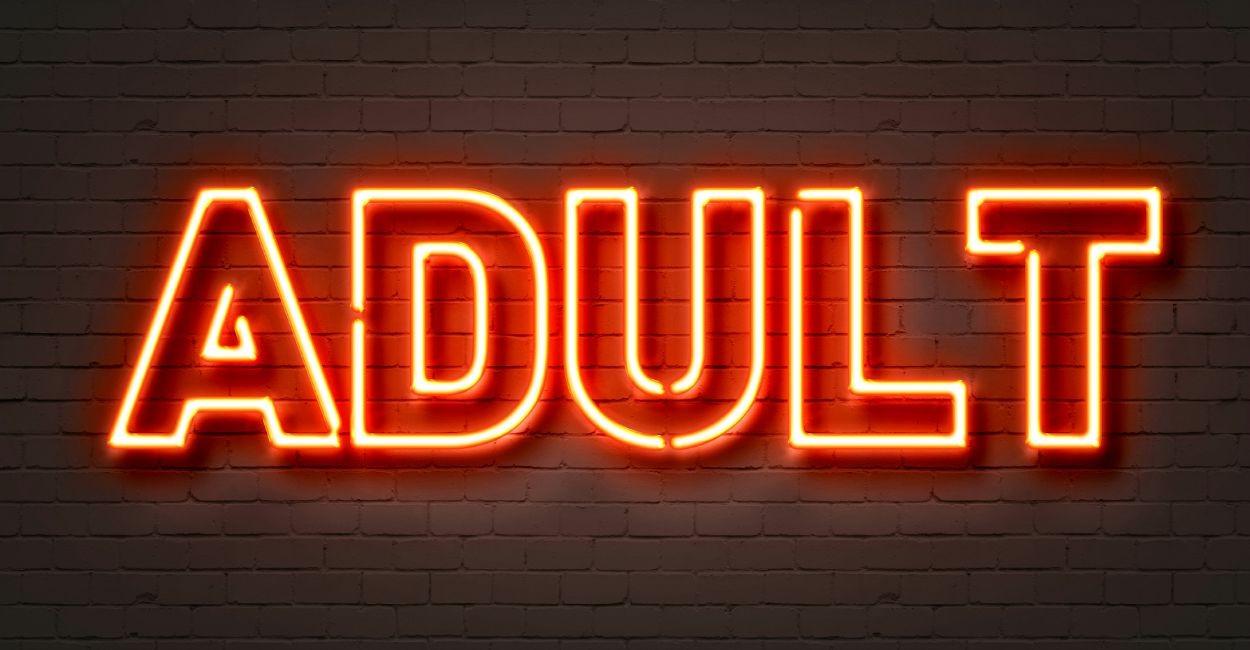 pornography - adult sign