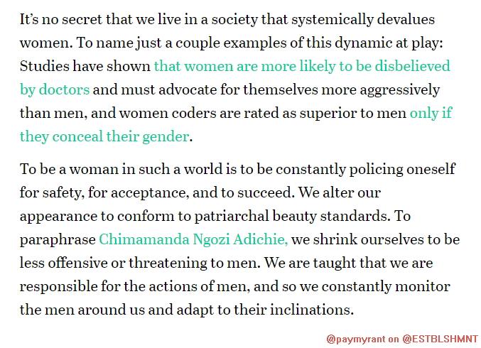 "#womenslives: ""I evened my tone so I would come across more authoritative…"""